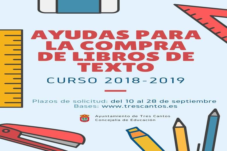 Tres Cantos abre el plazo para solicitar las ayudas para la compra de libros de texto del curso 2018-19