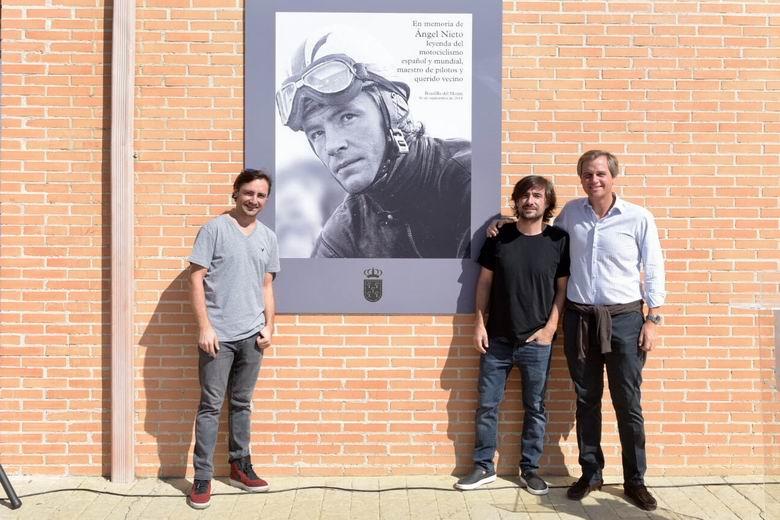 Inaugurada la remodelación del Complejo Deportivo Ángel Nieto de Boadilla con la presencia de los hijos del piloto