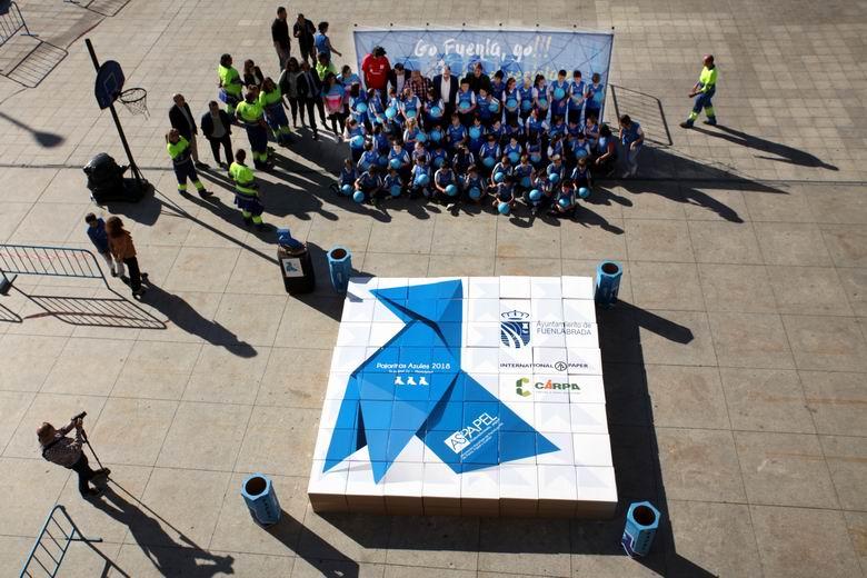 Fuenlabrada se convierte en la única ciudad de la Comunidad en revalidar por cuarto año consecutivo las Tres pajaritas azules del reciclado de papel y cartón