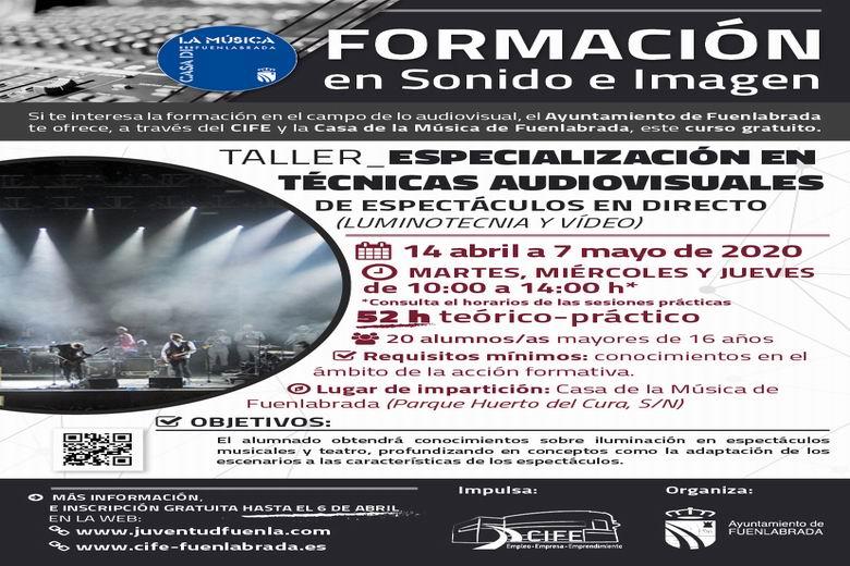 Fuenlabrada pone en marcha nuevos cursos formativos gratuitos de sonido, iluminación y espectáculos en directo