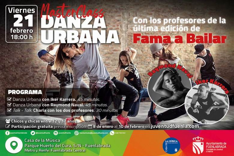 Los profesores de 'Fama a Bailar' ofrecen una masterclass de danza urbana en la Casa de la Música de Fuenlabrada
