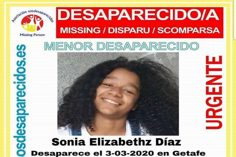 SOS Desaparecidos busca a una menor de 12 años desaparecida en Getafe