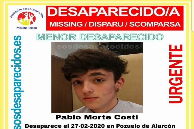 SOS Desaparecidos busca a un menor de 16 años desaparecido en Pozuelo