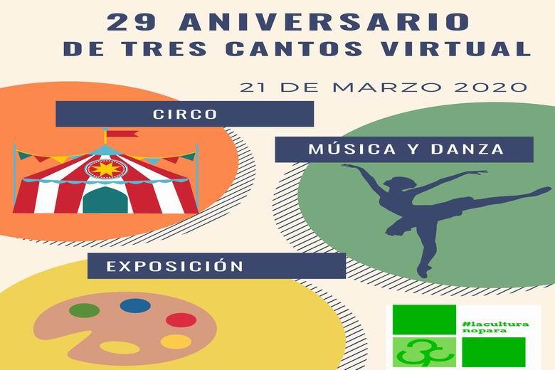 Tres Cantos organiza una programación virtual en conmemoración del 29 aniversario de la ciudad