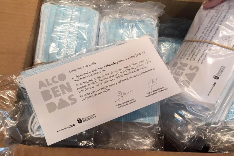 Alcobendas repartirá 270.000 mascarillas a todos los vecinos del municipio buzoneandolas en sus domicilios