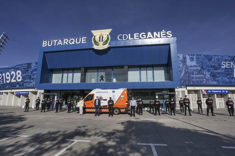 La Fundación del C.D. Leganés dona una ambulancia a la Agrupación de Voluntarios de Protección del Ayuntamiento de Leganés