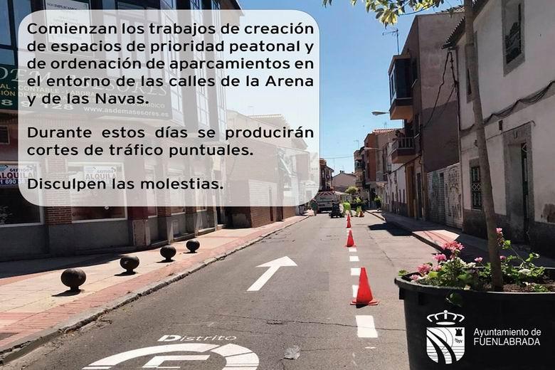 Fuenlabrada inicia los trabajos para generar nuevas calles de prioridad peatonal en el Distrito Centro