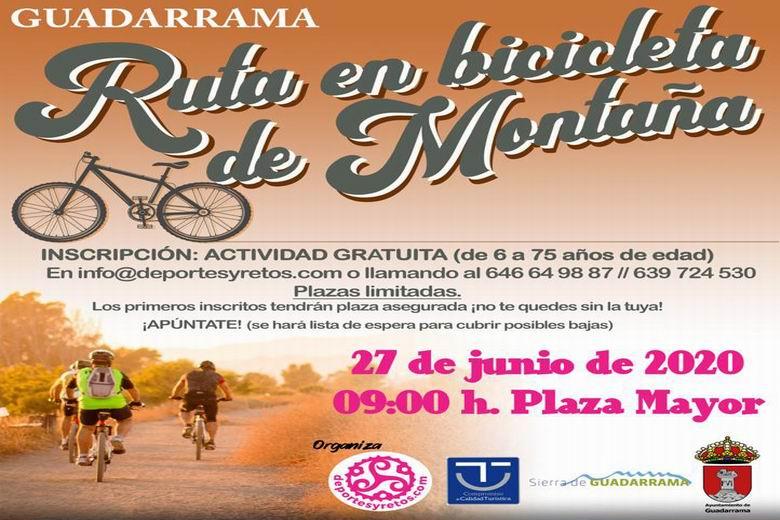Guadarrama celebra el sábado 27 de junio su primera Ruta de Bicicleta de Montaña
