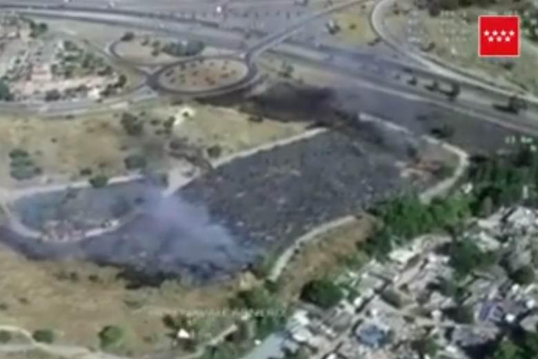 Un pequeño fuego en Parque Coimbra activa el plan contra incendios forestales en Móstoles