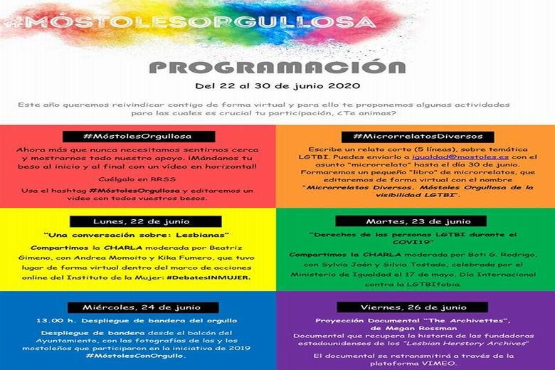 Móstoles celebra el Día Internacional del Orgullo LGTBI con actividades online