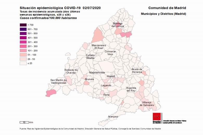Fuenlabrada suma 32 casos confirmados de coronavirus COVID-19 en los últimos 14 días y acumula un total de 1.716 positivos desde el principio de la pandemia