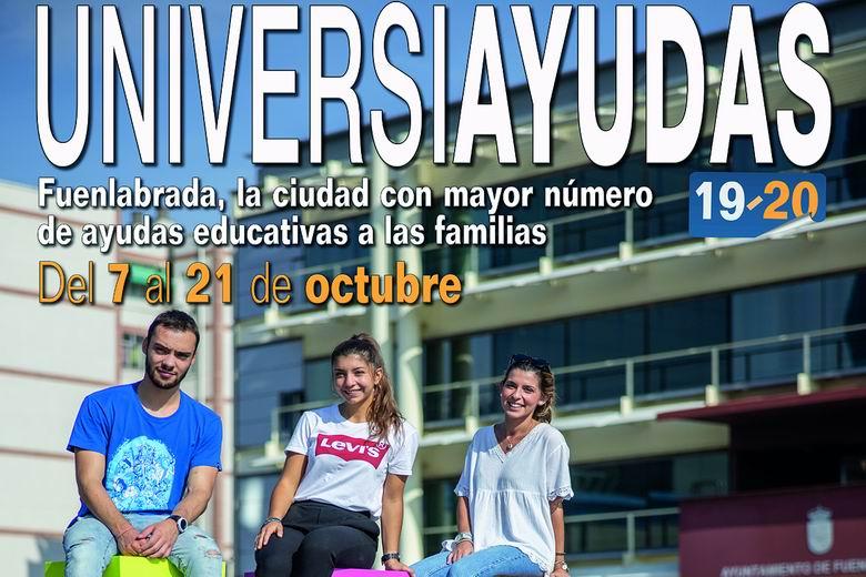 Más de 1.200 universitarios de Fuenlabrada percibirán hasta 800 euros de ayuda para sus estudios gracias a las Universiayudas que concede el Ayuntamiento