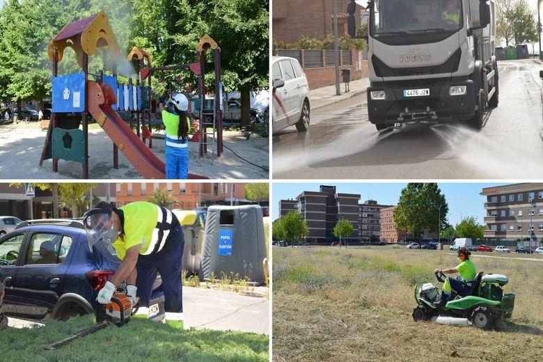 Humanes intensifica el servicio de mantenimiento de zonas verdes y limpieza viaria urbana