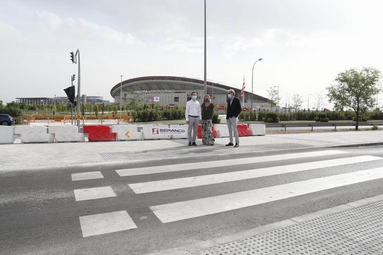 Finalizan las obras de mejora de la movilidad en el entorno de la avenida de Arcentales y del Wanda Metropolitano