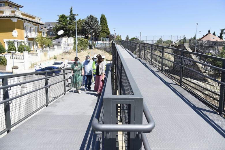 Pozuelo finaliza las obras de reparación de la pasarela en el Paseo de la Concepción