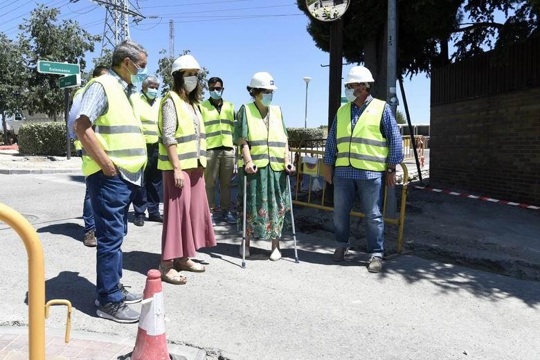 Continúan a buen ritmo las obras de eliminación de barreras arquitectónicas en la calle Burgos de Pozuelo