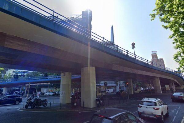 puente joaquin costa francisco silvela cerrado al trafico