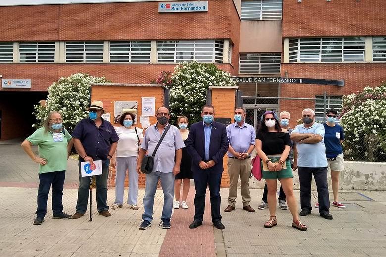 El Gobierno de San Fernando de Henares apoya la concentración contra los recortes sanitarios en la localidad