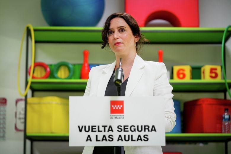 Mensaje institucional de la presidenta de la Comunidad de Madrid, Isabel Díaz Ayuso, sobre el inicio del curso escolar 2020/21