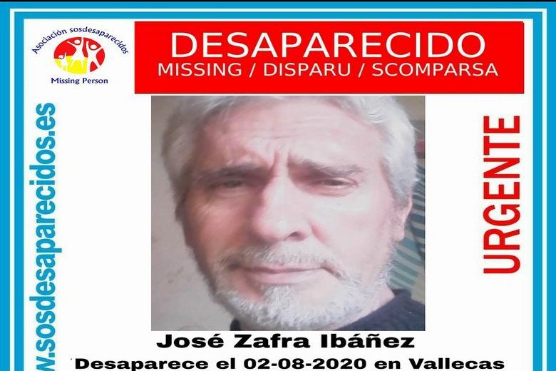 SOS Desaparecidos busca a un hombre de 63 años desaparecido en Vallecas