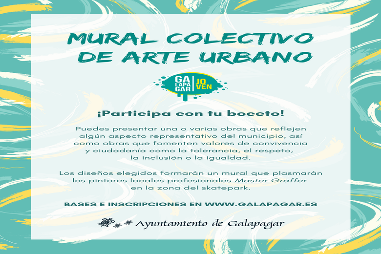 Galapagar invita a los jóvenes artistas del municipio a participar en un mural colectivo de arte urbano