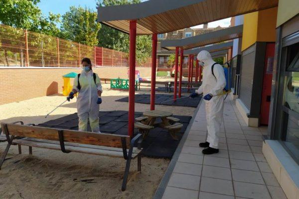 fuenlabrada desinfeccion limpieza escuela infantil