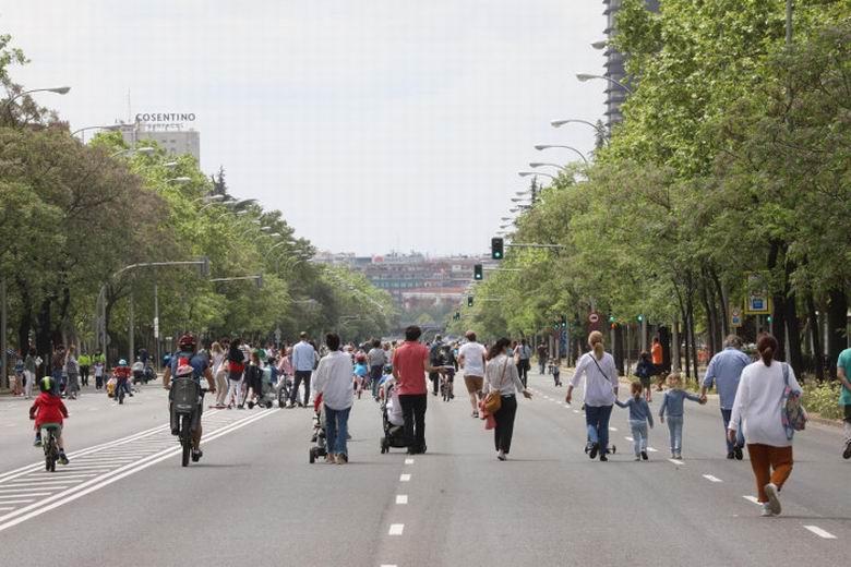 Madrid recupera la peatonalización provisional en 12 calles desde este sábado para reforzar la distancia social frente al COVID-19