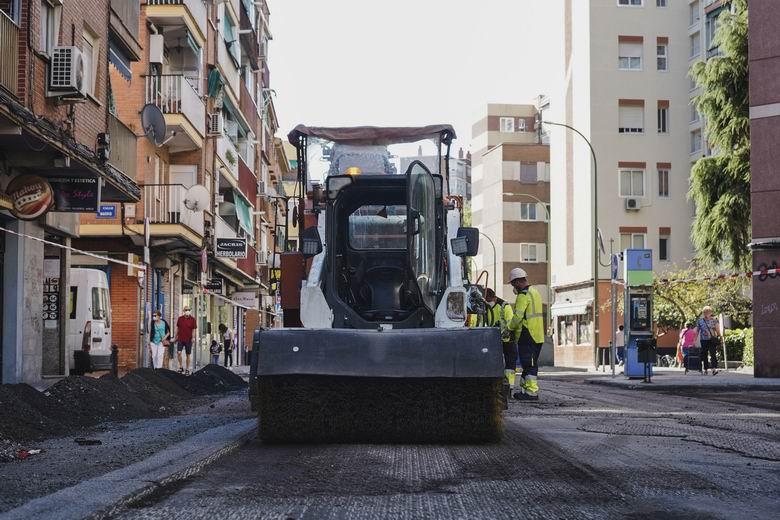 Móstoles asfaltará más de 70.000 m² de calzadas en una veintena de calles en 2020