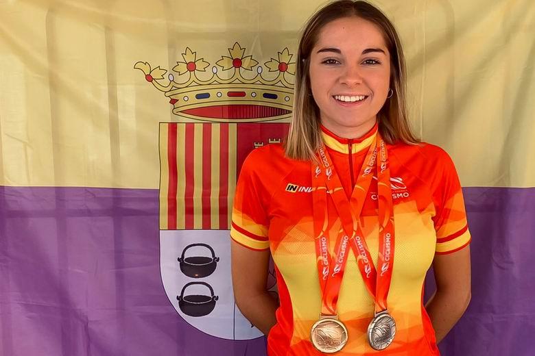 La ciclista de Torrejón, Ania Horcajada, campeona de velocidad y subcampeona por equipos con la selección de Madrid en el Campeonato de España de Pista
