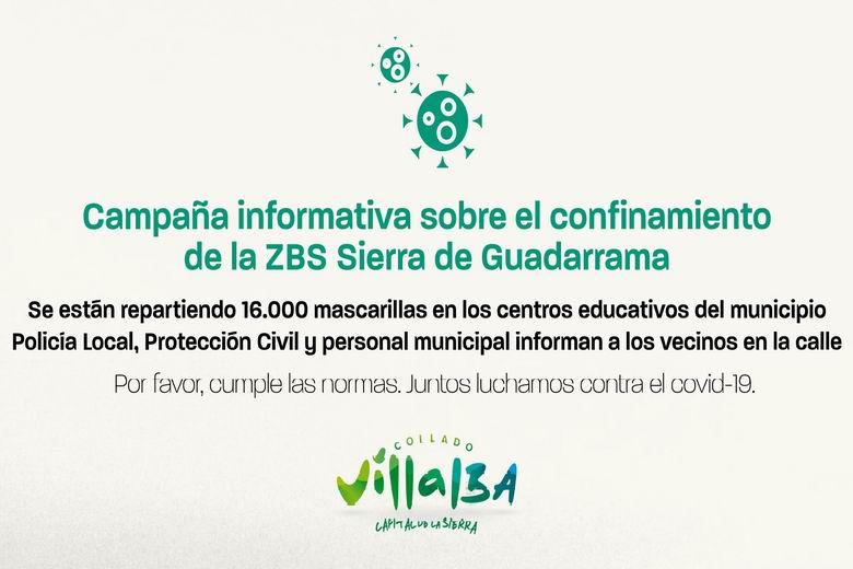 Collado Villalba emprende un plan de información a los ciudadanos con motivo del confinamiento del Área de Salud Sierra de Guadarrama
