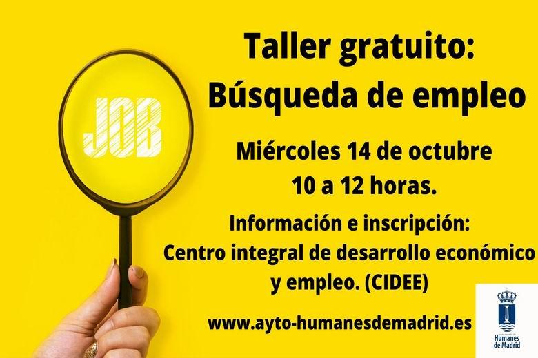 Humanes impartirá un nuevo taller gratuito de búsqueda de empleo
