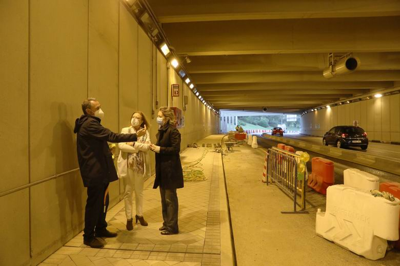 El túnel de la avenida del Planetario de Madrid será completamente accesible para el peatón antes de que finalice el año