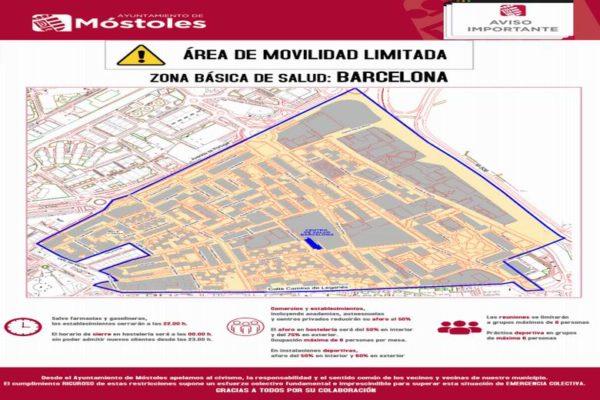 mostoles confinamiento area basica salud barcelona
