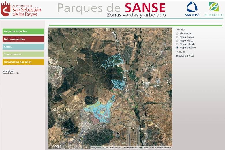 San Sebastián de los Reyes mostrará los datos de su patrimonio verde urbano en tiempo real a través de Internet