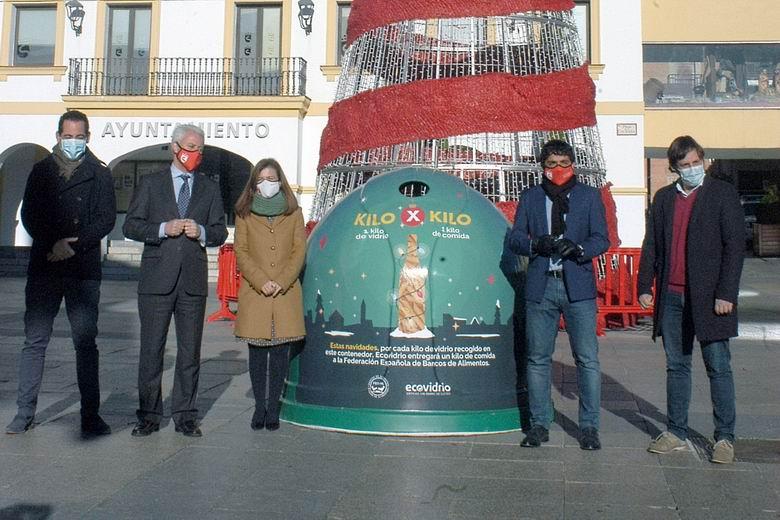 San Sebastián de los Reyes, Alcobendas y Ecovidrio retan a los ciudadanos a intercambiar kilos de envases de vidrio por kilos de alimentos para los Bancos de Alimentos