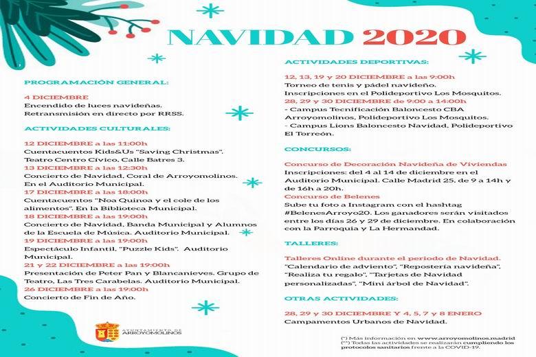 Arroyomolinos presenta una variada programación de Navidad que arranca hoy con el encendido de luces