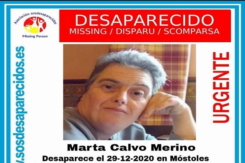 SOS Desaparecidos busca a una mujer de 55 años con síndrome de Down desaparecida en Móstoles