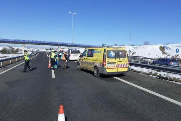 accidente m50 gruista fallecido atropellado alcorcon