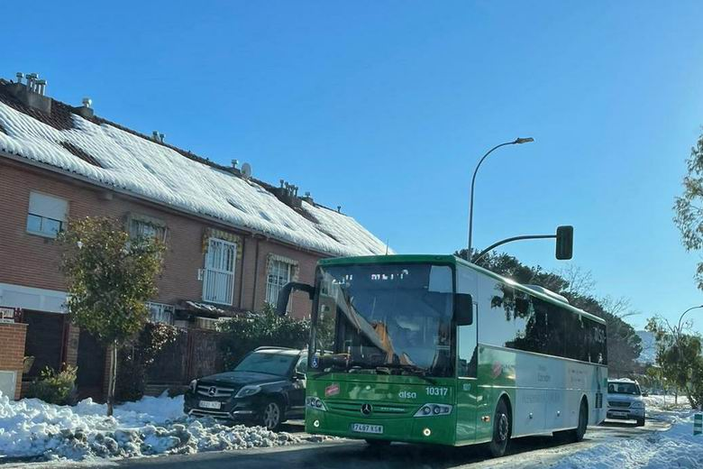 Situación de los autobuses en la Comunidad de Madrid que ya conectan al 96% de la población mediante la red del Consorcio