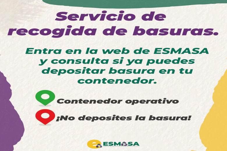 ESMASA Alcorcón habilita un mapa interactivo para poder hacer un seguimiento del restablecimiento del servicio de recogida de basura tras la nevada