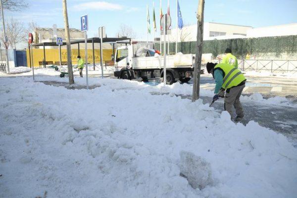 boadilla colegios nieve