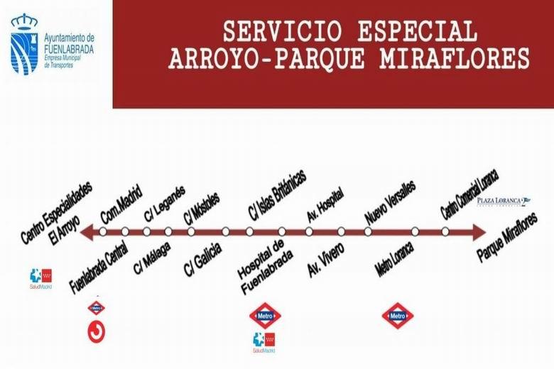 Fuenlabrada pone en marcha un servicio especial de autobús urbano de la Empresa Municipal de Transporte