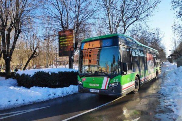 getafe autobus nieve