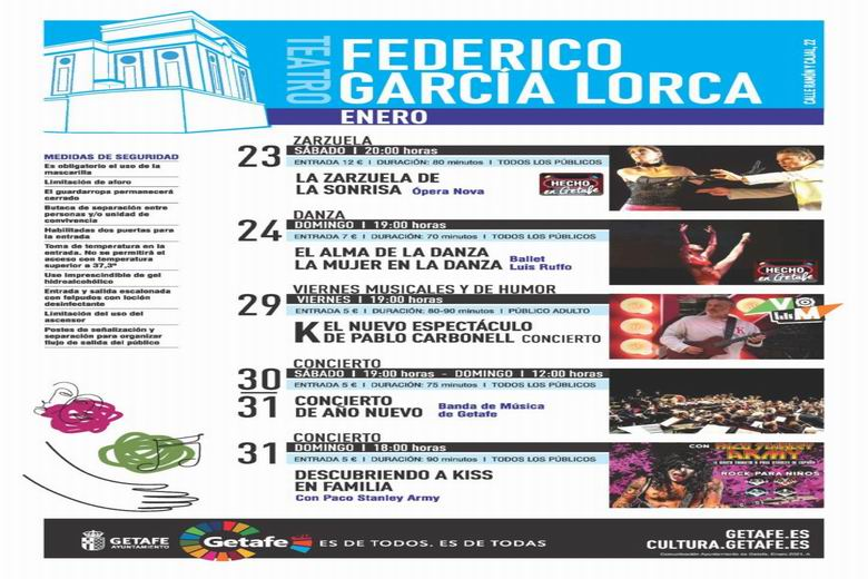 Getafe retoma su agenda cultural esta semana con zarzuela, danza y conciertos