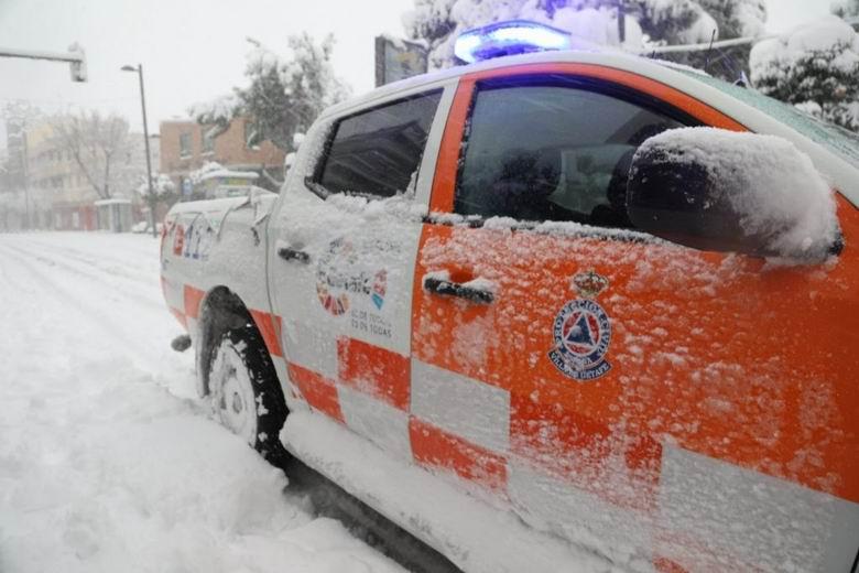Los servicios de Protección Civil de Getafe han realizado cerca de 300 intervenciones por la borrasca Filomena