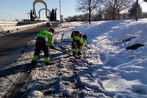 leganes trabajos limpieza nieve lluvia hielo