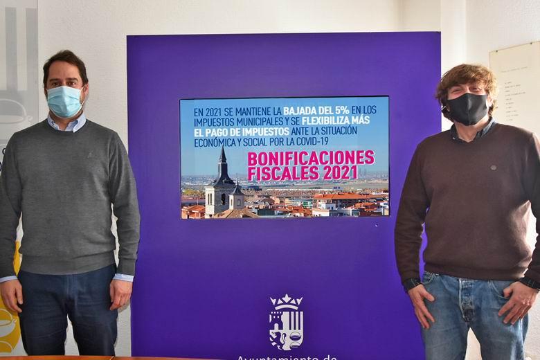 En 2021 Torrejón mantiene la bajada del 5% de los impuestos municipales y se flexibiliza más el pago de impuestos ante la situación económica y social por la Covid-19