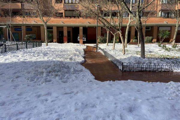 tres cantos nieve hielo limpieza estado calles