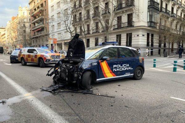 accidente policia persecucion calle serrano 01