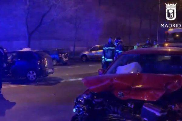 accidente via carpetana carabanchel 4 heridos